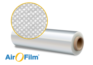 Produktrolle AirOFilm® Atmungsaktive Stretch-Loch-Folie mit Verstärkungsstreifen